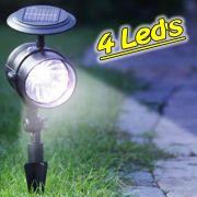 Luminária Solar Jardim GRANDE PVC Rígido Spot 1384 4 Leds