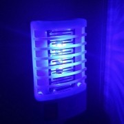 Mata mosquito inseto repelente lâmpada LED UV bivolt rosa CBRN04447