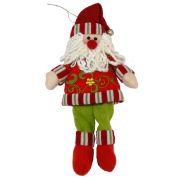 Papai Noel em Tecido Luxo 1479 30cm CBRN0142