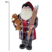 Papai Noel GranLuxo Boneco de pé com 95cm de Altura CBRN0623