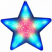 Pisca Pisca Estrela de Natal 20 Leds Colorido RGB 50cm Bi-volt CBRN0654 CD1861