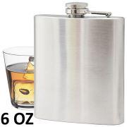 Porta whisky vodka garrafa de aço portátil cantil 6 oz 177ml CBRN01453