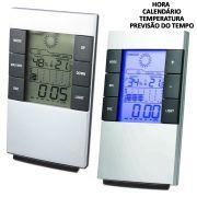 Relógio de Mesa Digital Despertador Previsão do Tempo e Temperatura CBRN01149