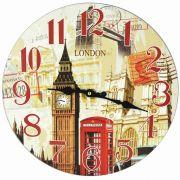 Relógio de Parede Estilo Rústico London 1 CBRN07073