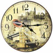 Relógio de Parede Estilo Rústico London 2 CBRN07103