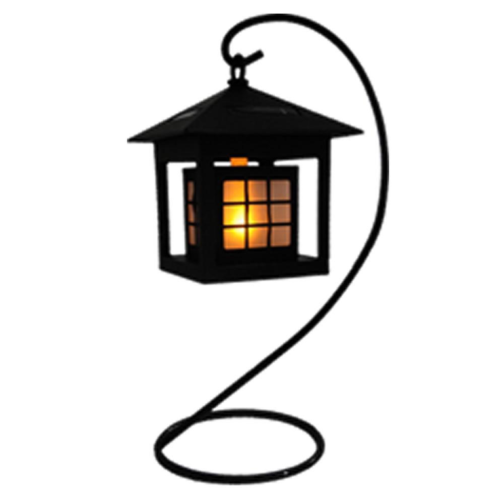 Luminaria solar para jardim 1 peça em pvc rigido EC23185 led ambar chamejante CD 1394