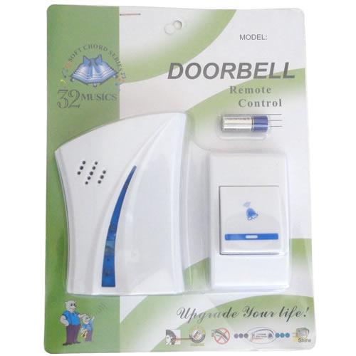 Campainha Sem Fio Wireless Alcance 80m 32 Toques Doorbell - modelo: 9610AC-1, fácil de instalar.
