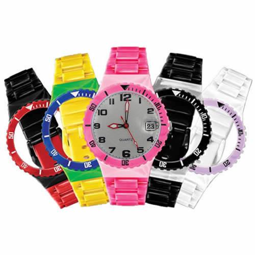 Relógio de Pulso Rubys Troca Pulseiras com 5 Pulseiras