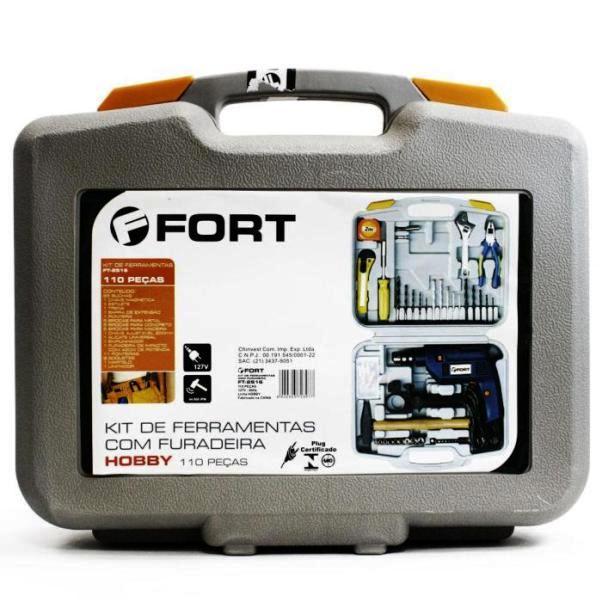 Jogo de Ferramentas Furadeira 110 peças Fort FT-2516 110 volts