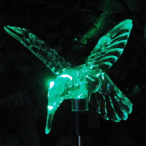 Luminária Solar Jardim em PVC Beija-Flor 1380 2 Peças