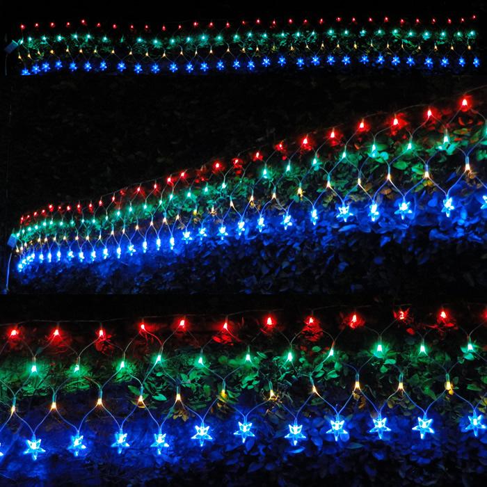 Cascata Luminosa Pisca COLORIDA 110v 1062 4 Fases 120 LED 127V