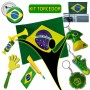 Kit Torcedor Brasil Olimpiada 12 Itens