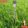 Luminária Solar Jardim 1 peça em Aço Inox 1386 CBRN03969