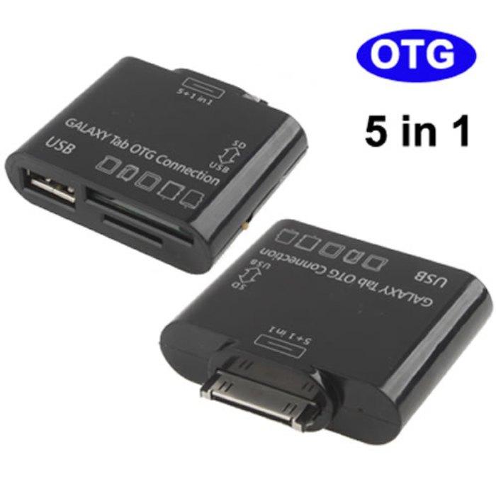 Adaptador 5x1 Samsung Tablet Galaxy Tab OTG Card Reader Usb - LT-225A