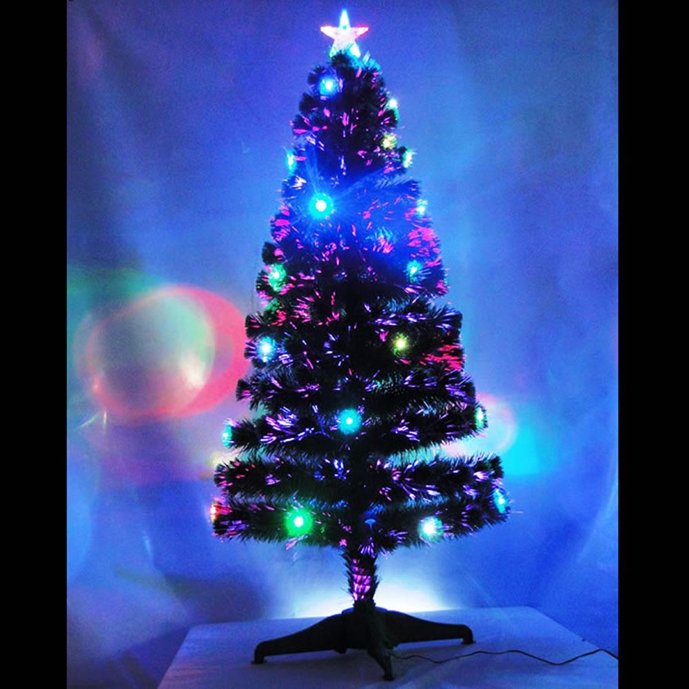 Árvore de Natal 1,50m Fibra Ótica e Led 110v - 220v - 1280