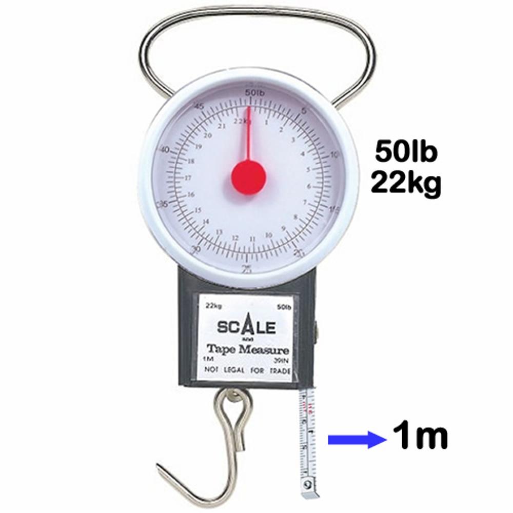 Balança Analogica com Trena 1 Metro 22kg Pesca CBR1044
