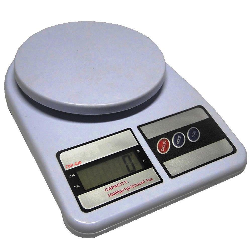 Balança Digital CBR-400 Alta Precisão Eletrônica 1g a 10 kg