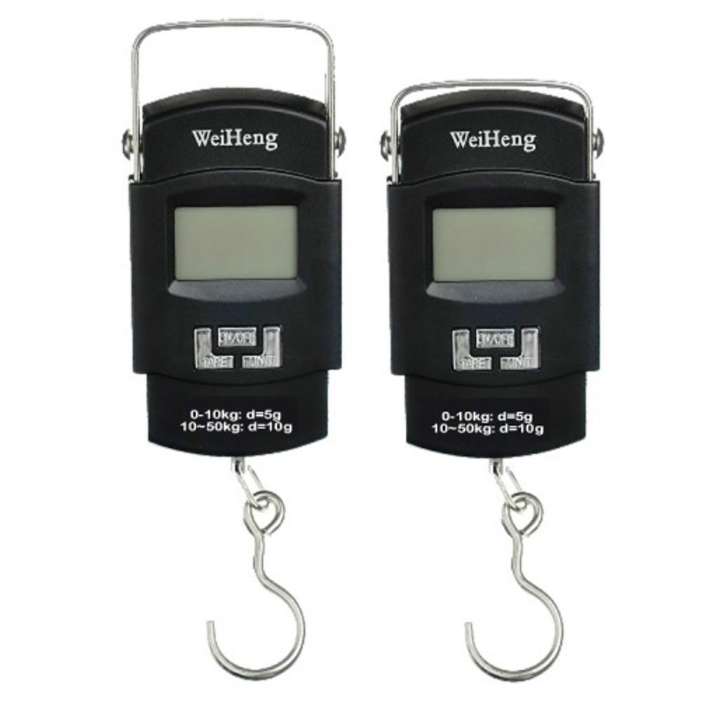 Balança Digital portátil gancho p/pesca mala 50 Kgs CBR1046