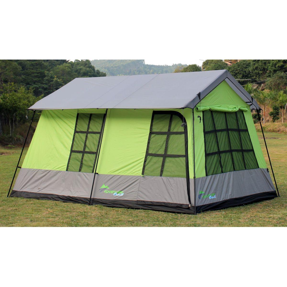 Barraca de camping mansão 10 pessoas Adventure Brasil ADV-1002 Verde
