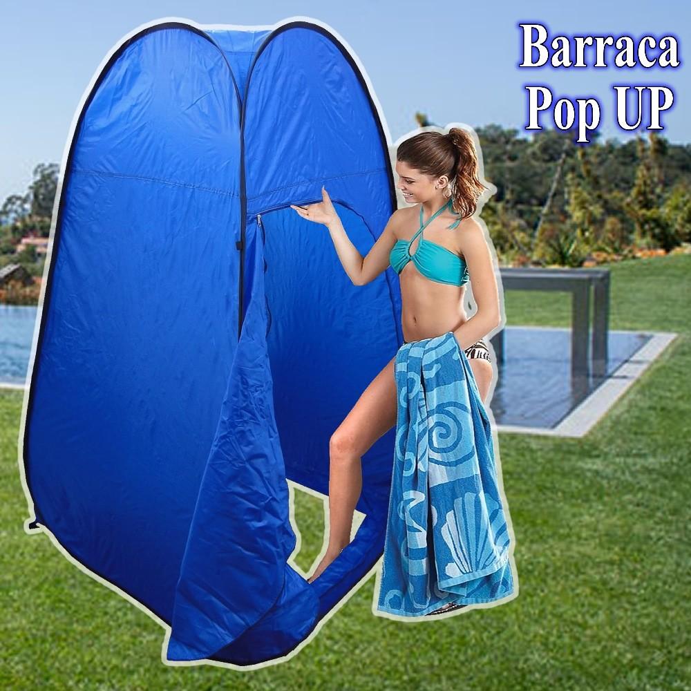 Barraca Pop UP Portátil Provador roupas cabine Bronzeamento AZUL CBR01032