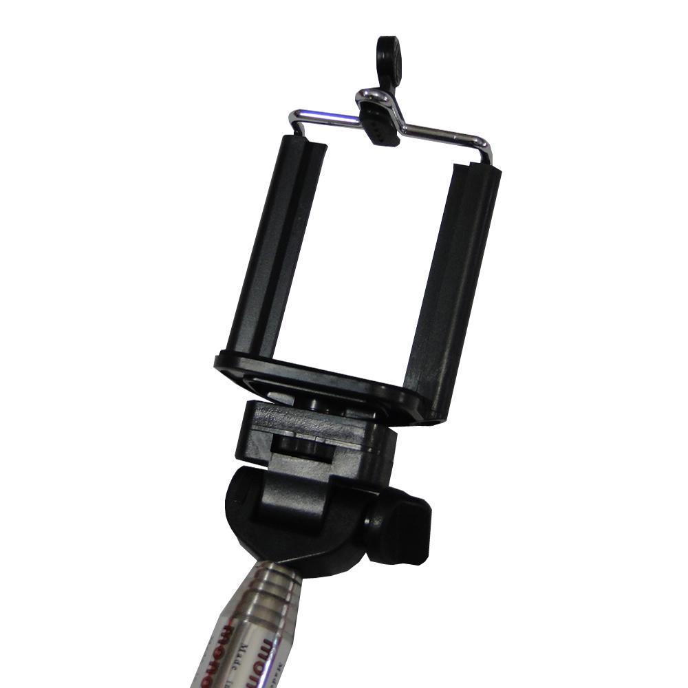 Bastão Selfie 1M Monopod Aço Z07-1 Pink + Controle WMTDS2588