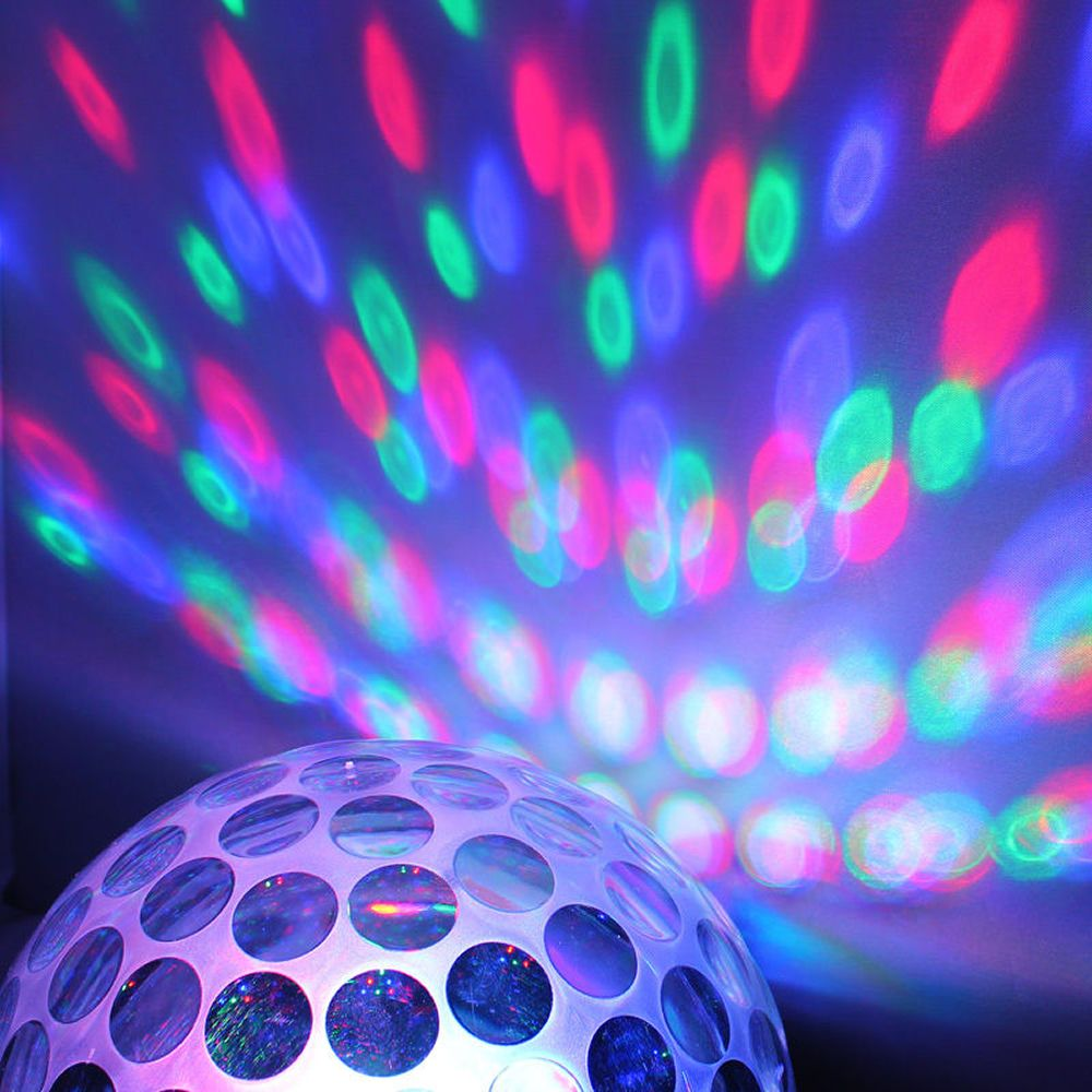 Bola Maluca Led Rgb MP3 Projetor Holográfico Magic Ball Light YCZ001