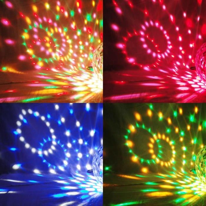 Bola Maluca Led Rgb Projetor Holográfico Magic Ball Light YX-0243-M3