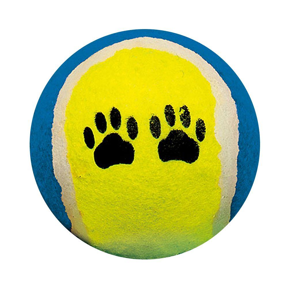 Bola Tênis Camurça Brinquedo kit 3 Unidades para Animais TS-203