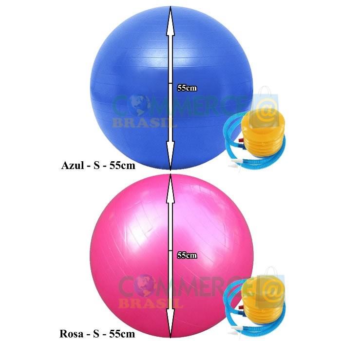 Bola Yoga Pilates Fitness Suíça 55cm-S com Bomba CBR01069