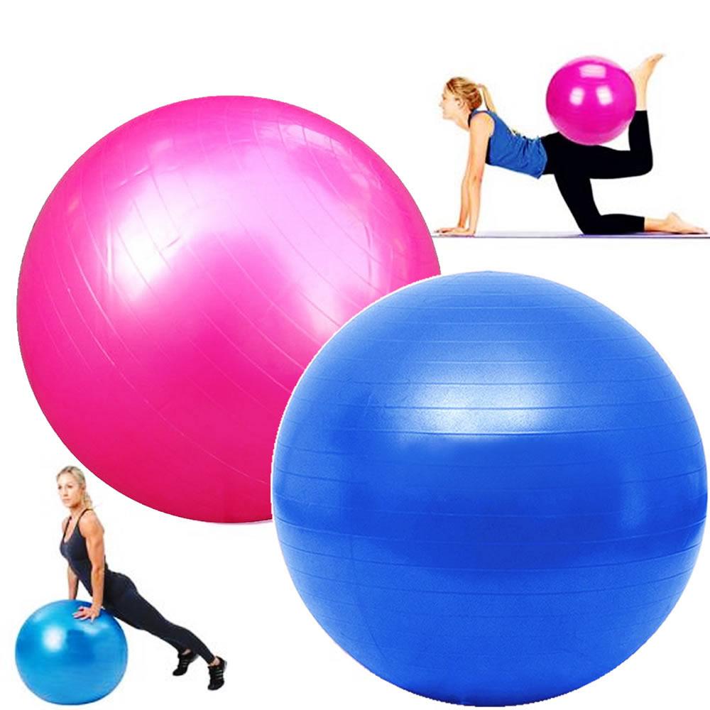 Bola Yoga Pilates Fitness Suíça 75cm-L com Bomba CBR01071
