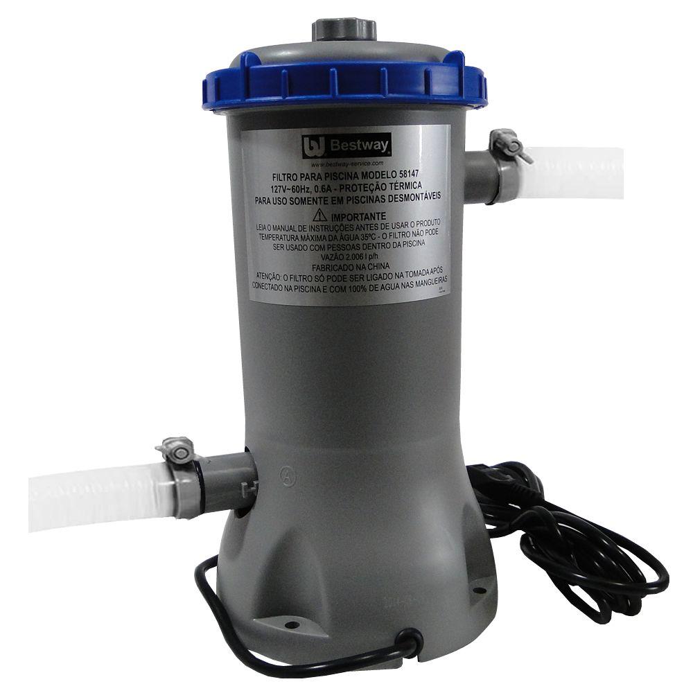 Bomba Filtrante Piscina Bestway 110V com Filtro 2000 Litros - 58147