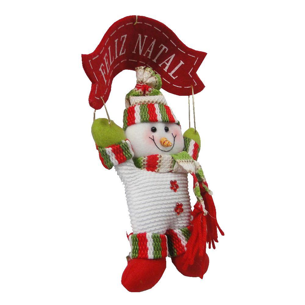 Boneco de Neve de Pendurar em Tecido 1441 25cm de Altura