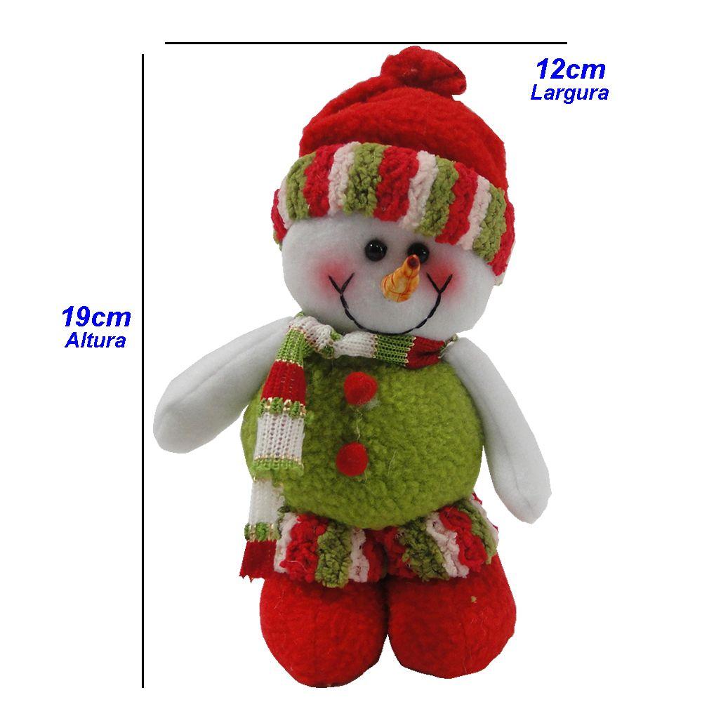 Boneco de Neve em Tecido 1419 19cm de Altura
