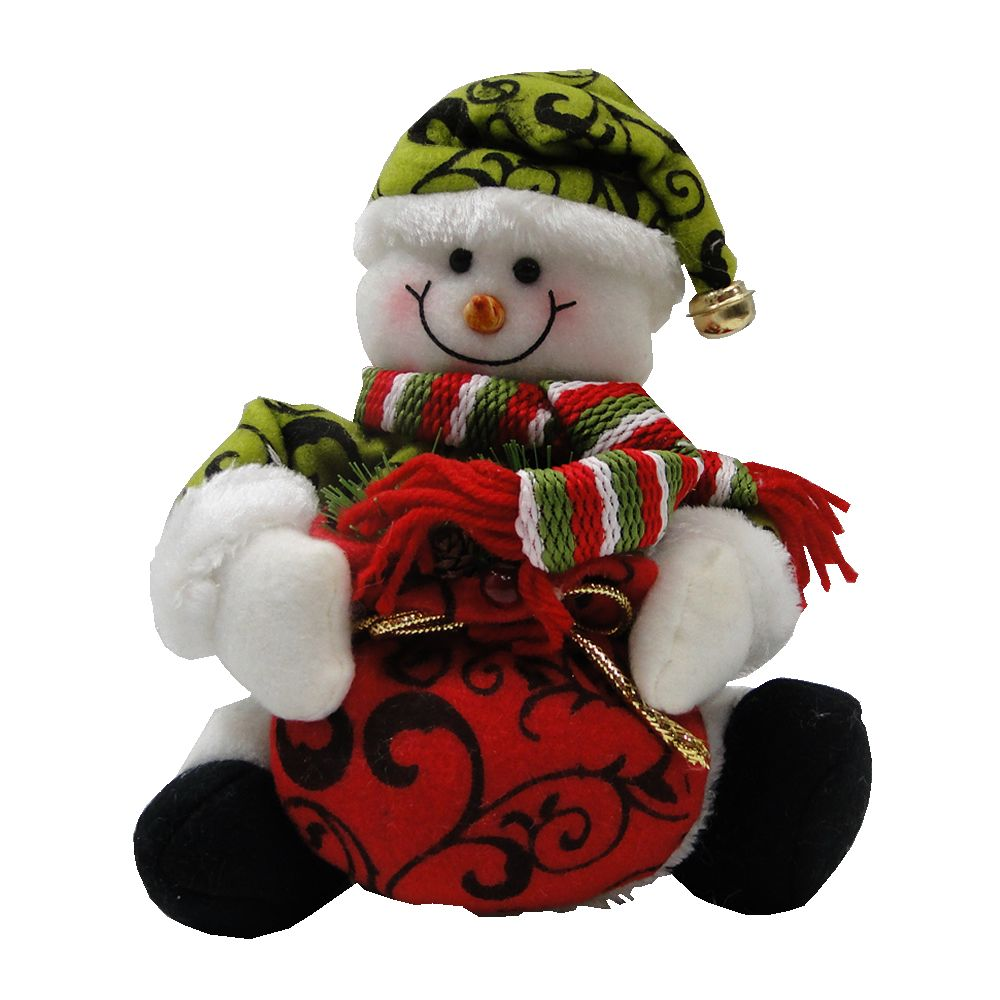 Boneco de Neve em Tecido com Sino 1433 21cm de Altura