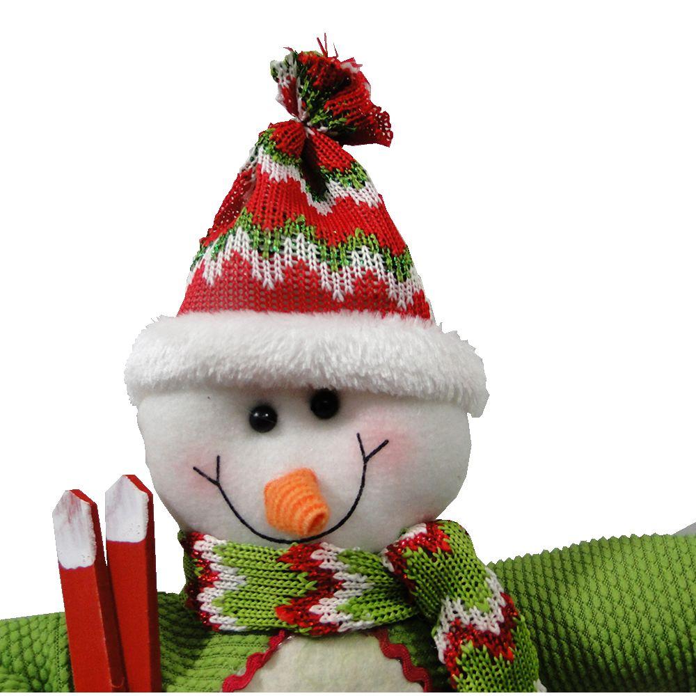Boneco de Neve Natalino em Tecido 1492 55cm de Altura
