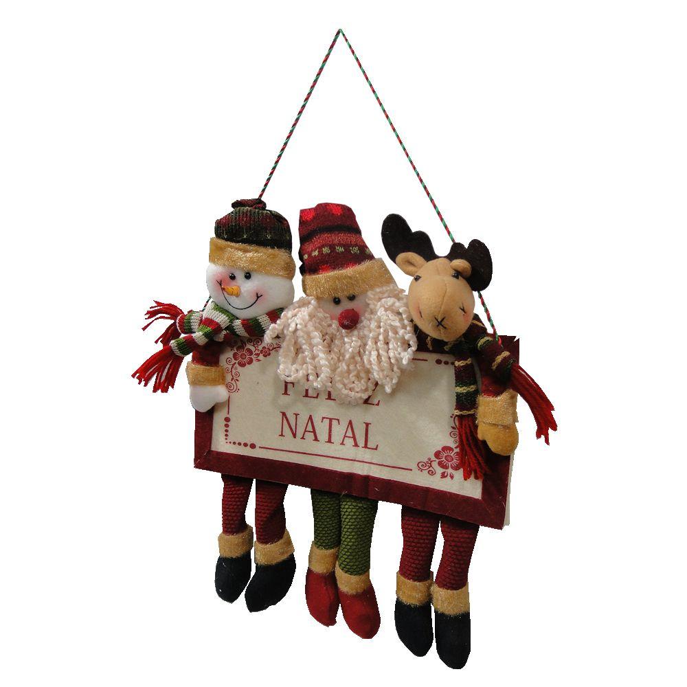 Boneco de Neve,Papai Noel,Alce em Tecido de Pendurar 1476 50cm de Altura