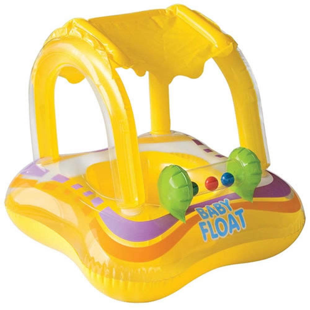 Bote Inflável Infantil BabyBote Float Bóia Intex 56581 - 81 cm x 66 cm