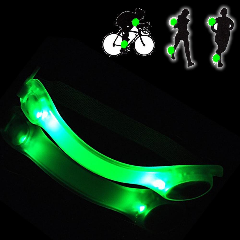 Braçadeira Sinalizador Noturno Safe light Led Verde CBRN0098