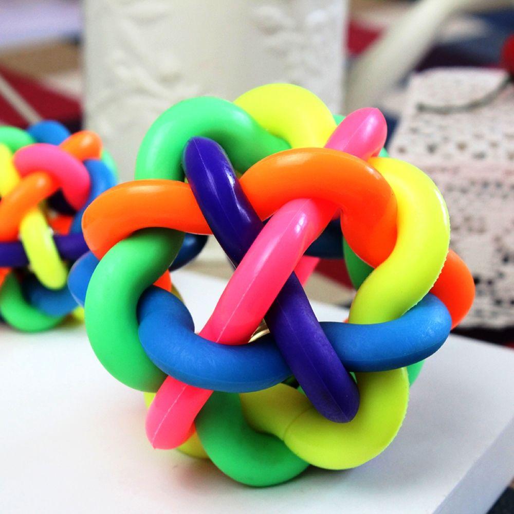Brinquedo Bola Trançada Multicolorida para Animais TS-234