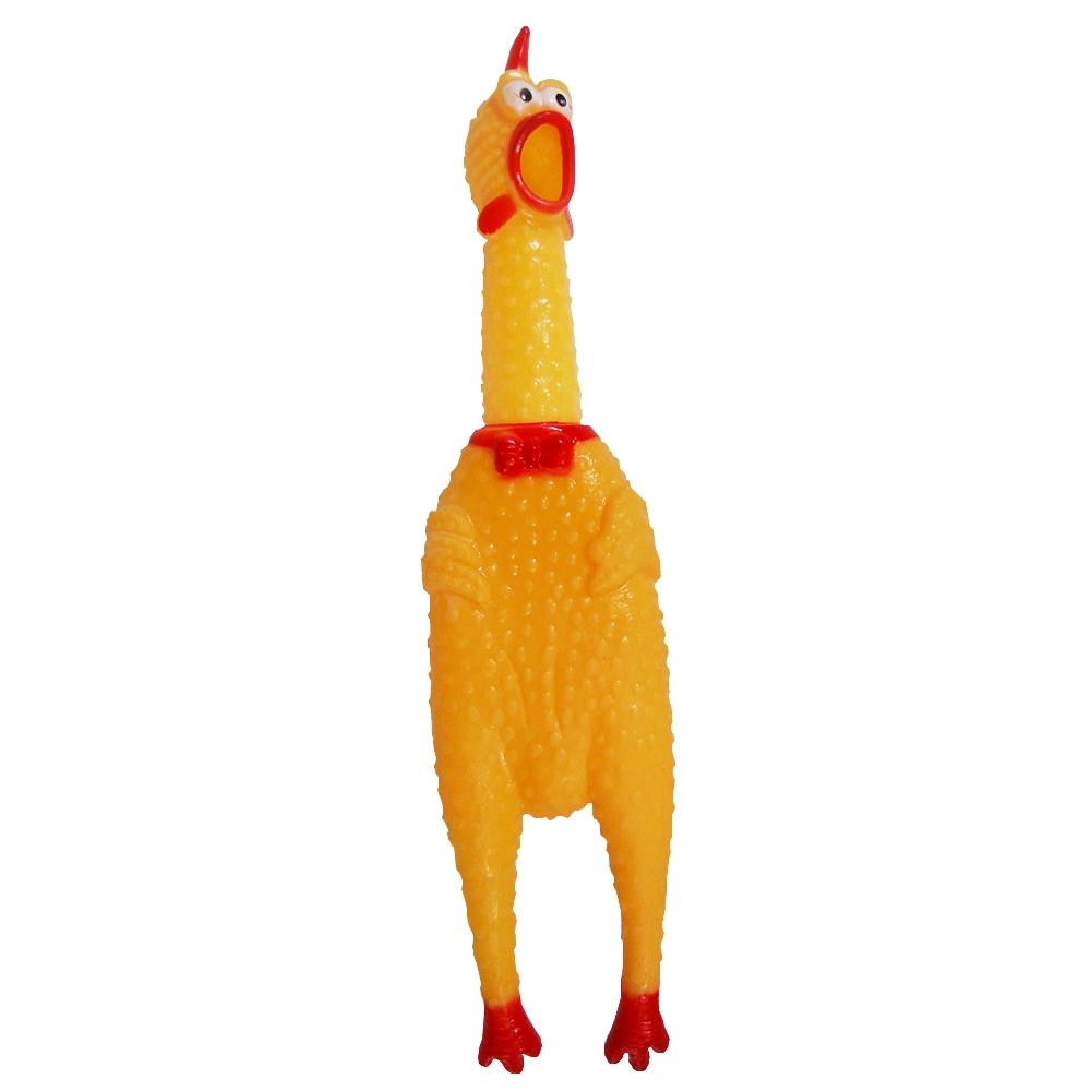 Brinquedo de Borracha Frango de Morder para cachorros e gatos CBR03273