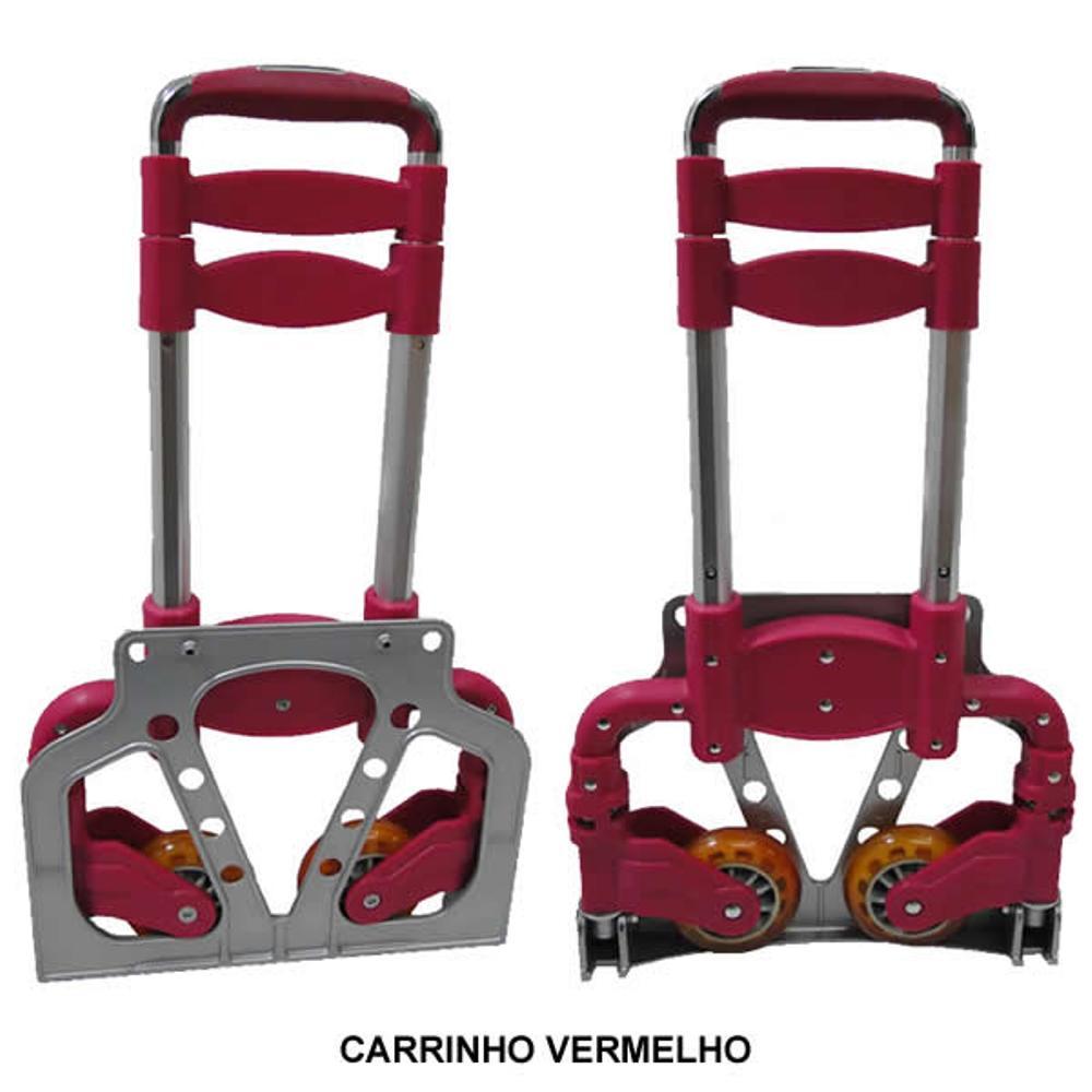 Carrinho de Transporte de Volumes Suporta 50Kg Alumínio LG-101 - CBR-1016