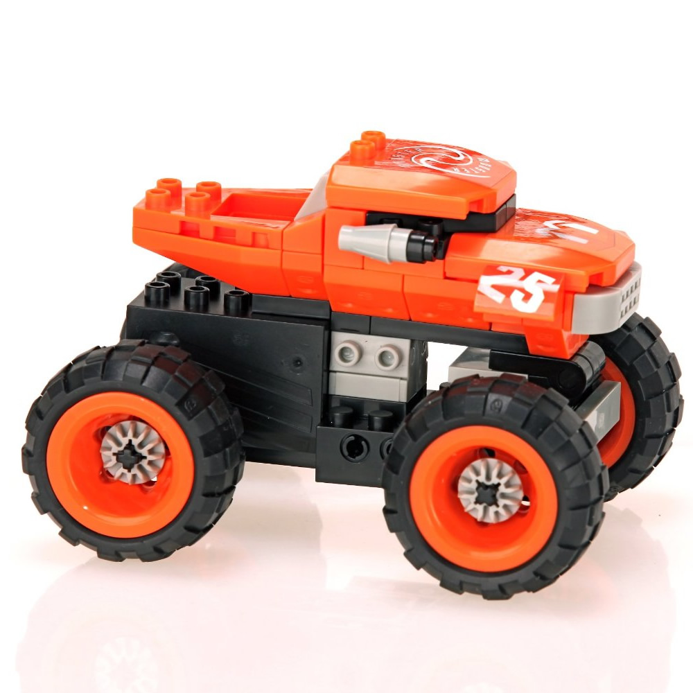 Brinquedo Carro Monstro de Corrida com 81 Peças em Blocos de Montar CBRN0876