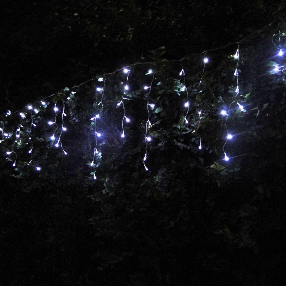 Cascata Luminosa 100 LEDs Branco 110v 3,7m Fio Transparente 1144