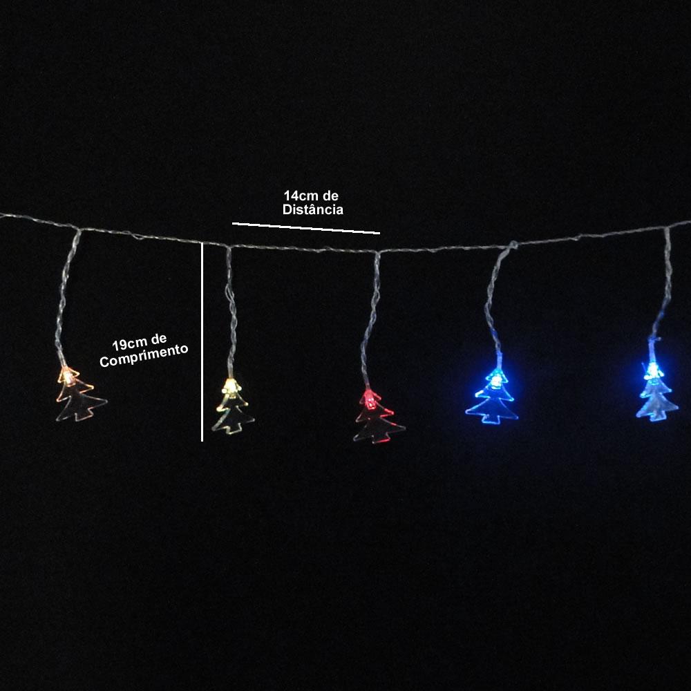 Cascata Luminosa 20 LEDs Arvore de Natal 220v 3m Fio Transparente 1815