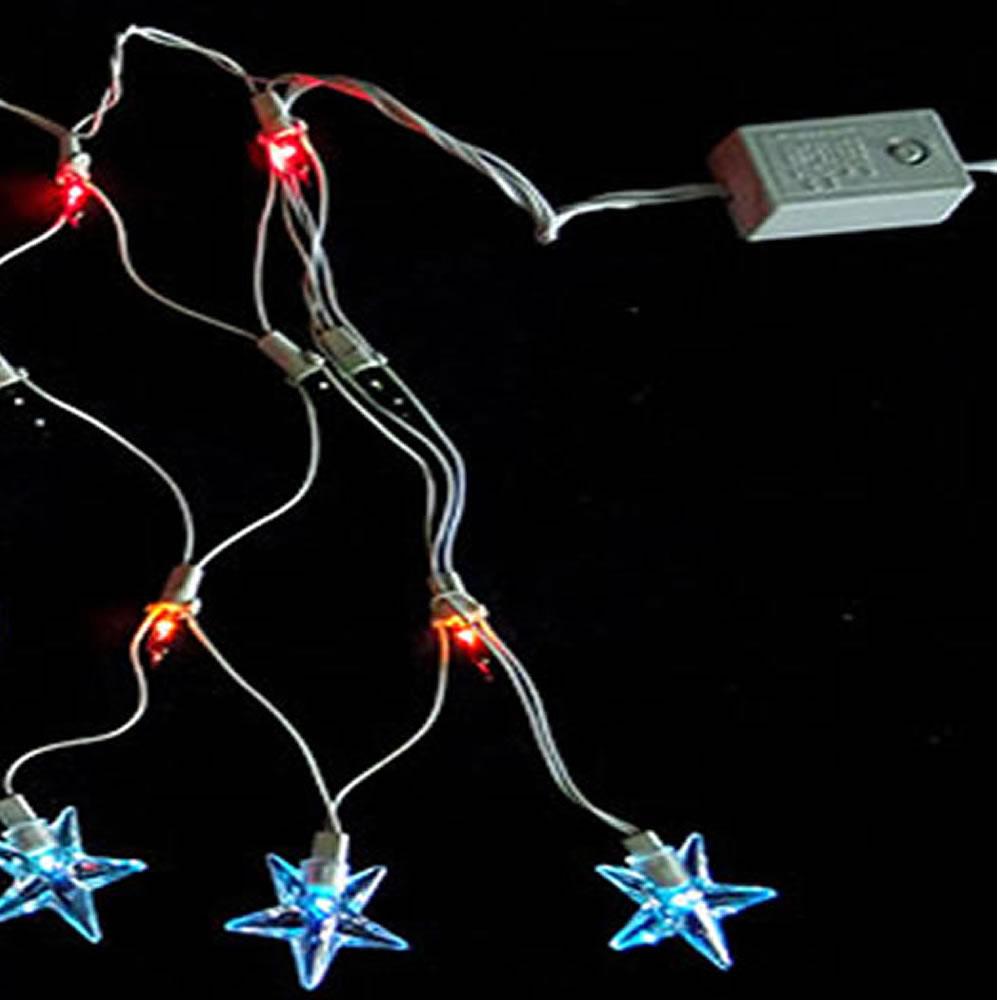 Cascata Luminosa Estrelas Colorido 110v 1011 120 Lâmpadas