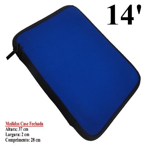 Case Neoprene 6mm 14 Polegadas Color p/ Netbook, Tablet, Diversos