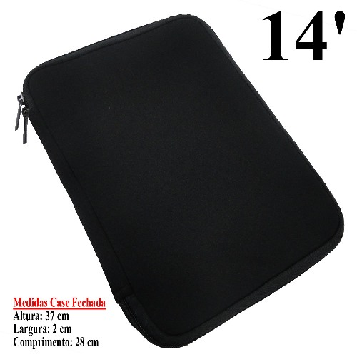 Case Neoprene 6mm 14 Polegadas Color p/ Netbook, Tablet, Diversos