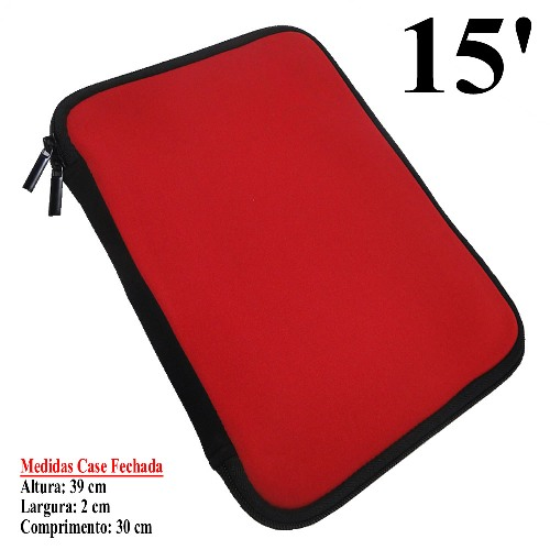 Case Neoprene 6mm 15 Polegadas Color p/ Netbook, Tablet, Diversos
