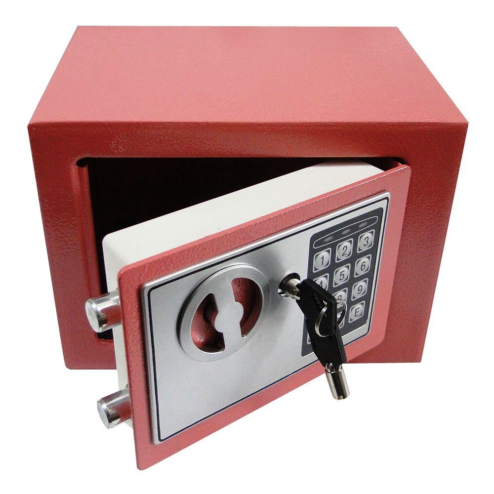 Cofre Eletrônico Digital Aço c/ 2 Chaves Goiaba CBR1061