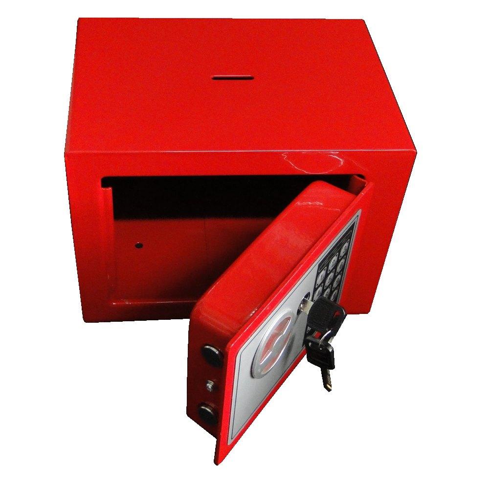 Cofre Eletrônico Digital Aço c/ 2 Chaves Segurança CBR1061/DS1602